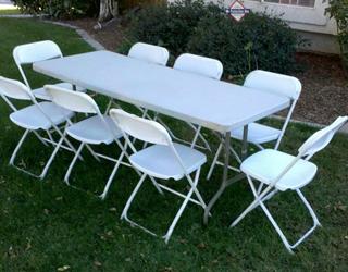 Incredible 6Ft Folding Table And 8 Chairs Spiritservingveterans Wood Chair Design Ideas Spiritservingveteransorg