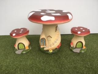 Fairy Toadstool Bistro Set Ed Direct