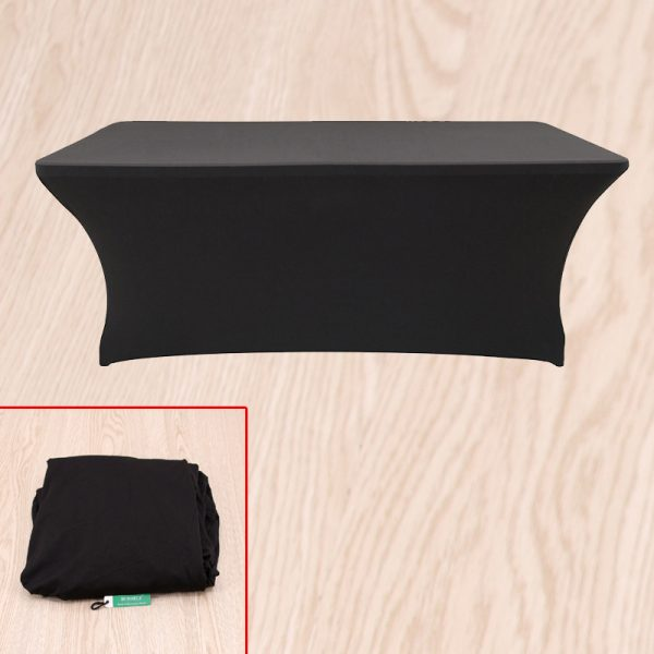 New Spandex For 6ft Trestle Table Black Ed Direct